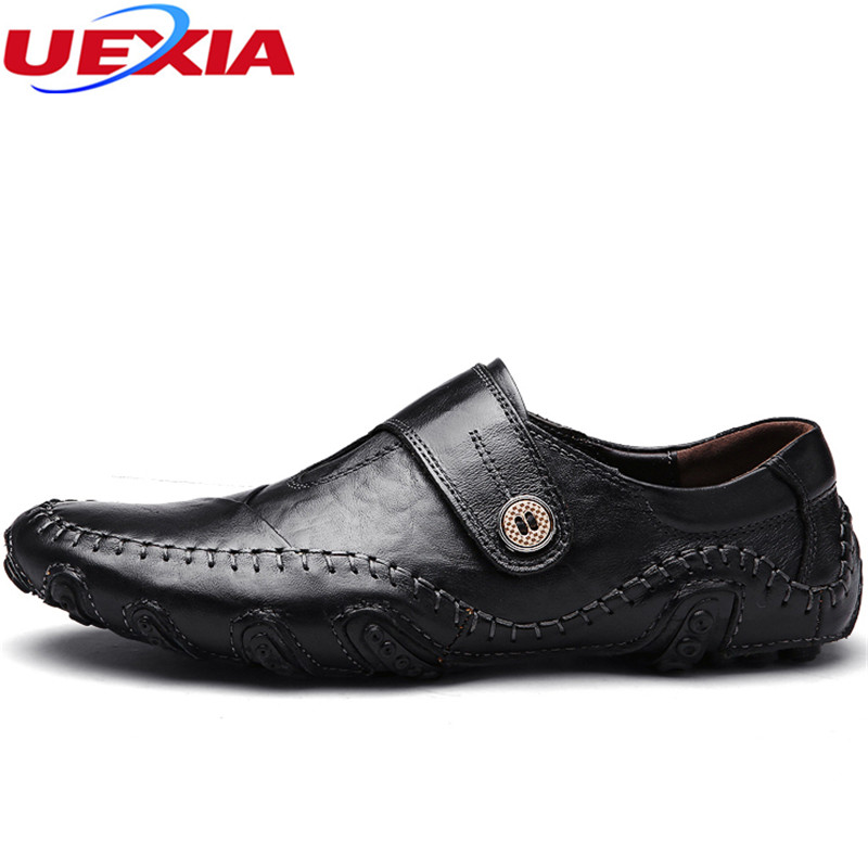 Manual Sewing Leather Casual Driving Shoes Breathable Mens Gommini Moccasins Slip On Men Shoes Design Flats Loafers Masculino