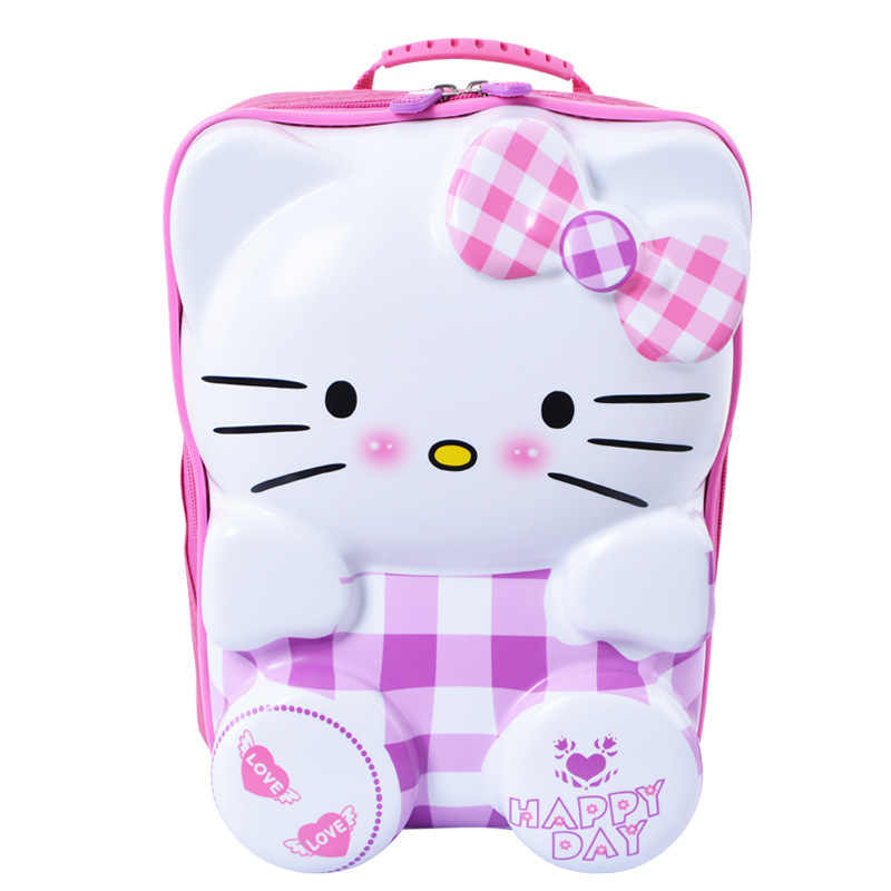 Милый новый детский Багаж, Hello kitty 3D мультфильм тележка чехол, студенческий портфель, ABS + PC коробка для хранения можно использовать как школьная сумка