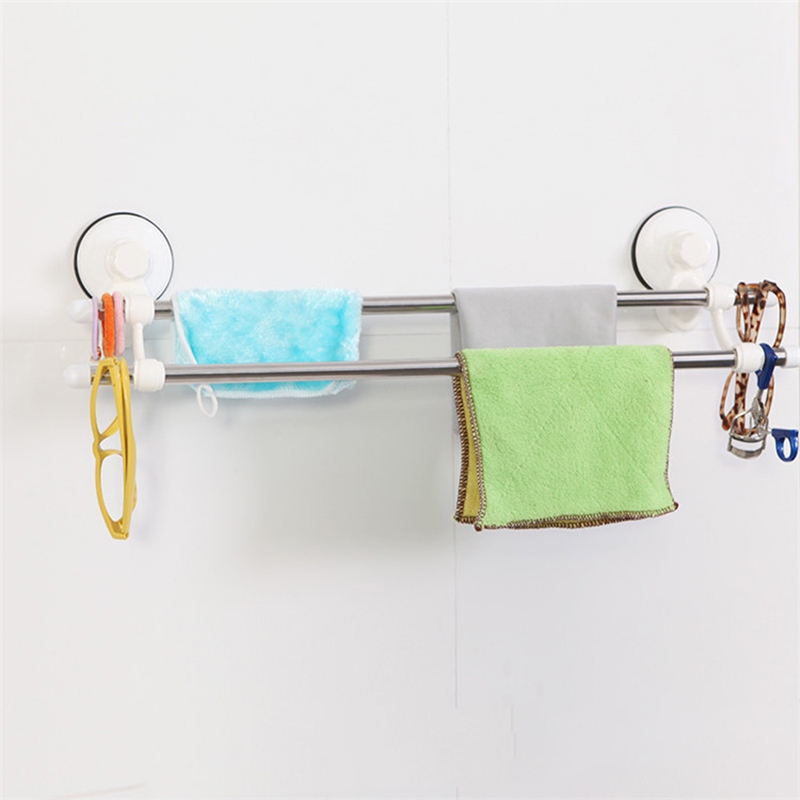 New Dual Layer Suction Towel Rack Mayitr Stainless Steel Wall Mount Bathroom Towel Holder Rack Rail Shelf Bathroom Accessories julia lovell the opium war