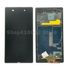 Для Sony Xperia Z1 L39H L39 C6902 C6903 C6906 ЖК-дисплей Дисплей + Сенсорный экран планшета Ассамблеи с Рамка Бесплатная доставка