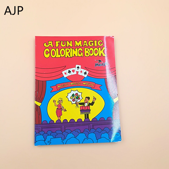 ajp 3pcs small size coloring cartoon book comedy funny magic books close up stage magic - Coloring Book Magic Trick