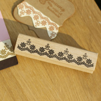 High Quality Flower Lace 2 9cm Carimbo Stamps Diy Postcard Or Bookmark Scrapbooking Stamp Beatiful Wooden