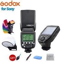 Godox V860ii V860ii S with VB18 Battery Camera Speedlite Flash + Xpro S TTL HSS Transmitter Trigger For Sony A7 A7RII A9 Cameras