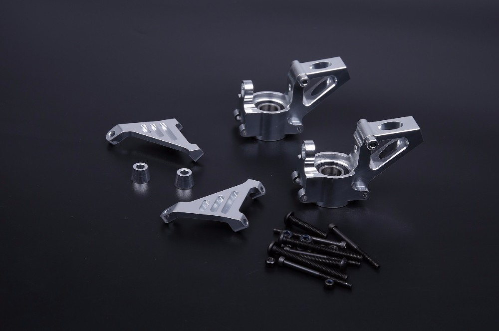 Alloy CNC Front Hub Carrier Billet Set Fit 1/5 Hpi Rovan KM Baja 5B 5T 5SC RC CAR PARTS купить