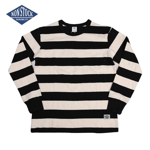 T Shirt à manches longues pour homme, cintré, à rayures, pour moto, NON STOCK