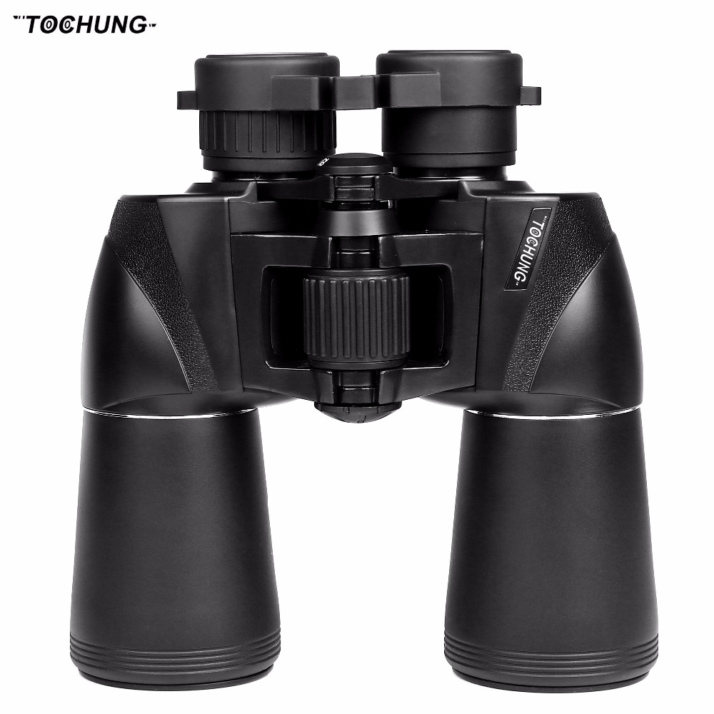 TOCHUNG Wide-angle Binoculars Powerful Russian Military 10x50 Telescope Digital Compass Low-Light Level Night Vision Binocular 10x50 binoculars telescope hd wide angle portable lll night vision waterproof scope compass not infrared measure the distance