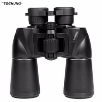 TOCHUNG Wide Angle Binoculars Powerful Russian Military 10x50 Telescope Digital Compass Low Light Level Night Vision