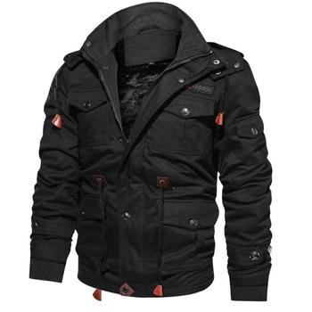 Men's Winter Jackets And Coats Fleece Warm Hooded Coats Thermal Thicker Outerwear Male Military  Jackets Warm Parkas Size6XL