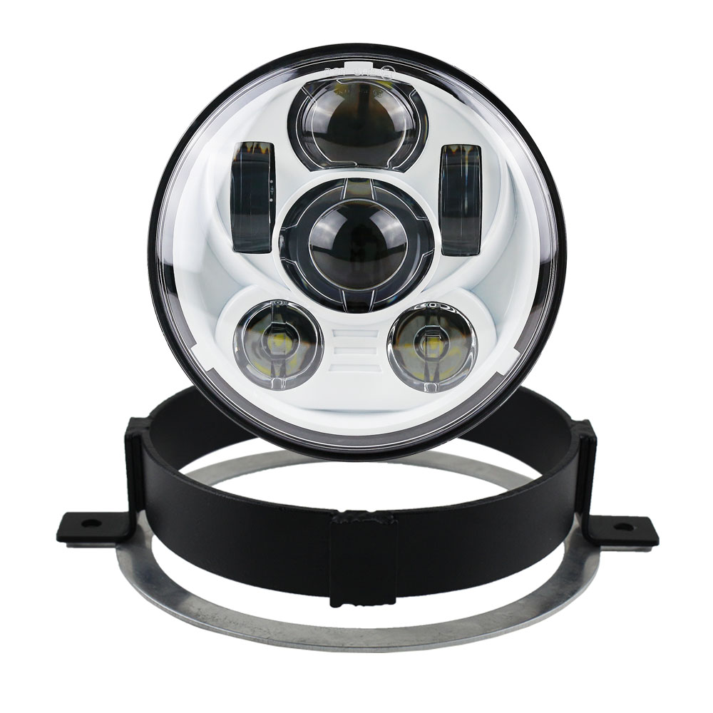 Accessories Motorcycle 5.75 inch LED Multicolor Headlight Round with Motor mounting bracket ring for Honda 2006 VTX 1300C 1800Accessories Motorcycle 5.75 inch LED Multicolor Headlight Round with Motor mounting bracket ring for Honda 2006 VTX 1300C 1800