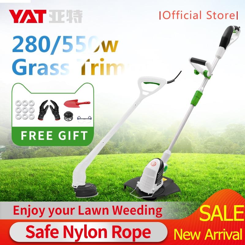 YAT Electric Trimmer Grass Trimmer 280W/550W Grass String Trimmer Pruning Cutter Garden Tools Lawn Mower