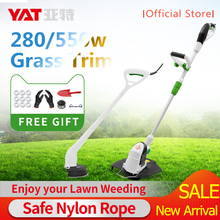 YAT Electric Trimmer Grass Trimmer 280W/550W Grass String Trimmer Pruning Cutter Garden Tools Lawn Mower