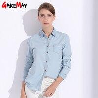 Denim Women Blouses Plus Size Denim Shirt For Women Tops Female Clothing Autumn Feminine Shirts Jeans