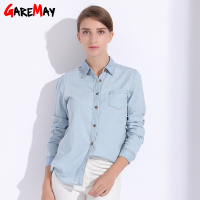 Denim Women Blouses Plus Size Denim Shirt For Women Tops Female Clothing Autumn Feminine Shirts Jeans