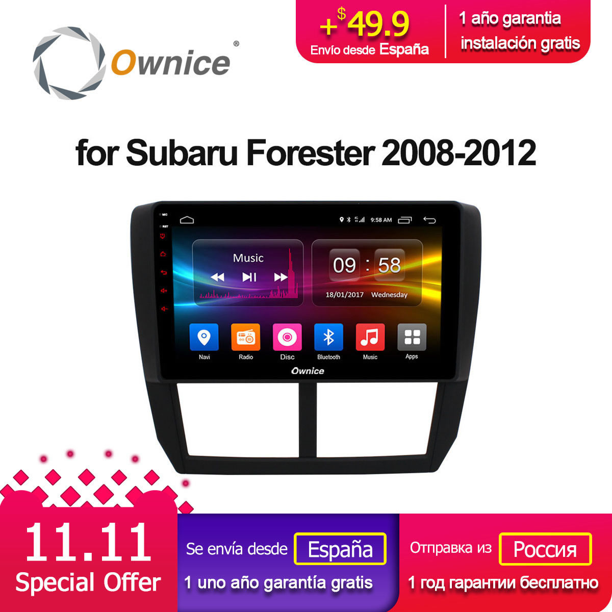 Ownice C500 + G10 Octa Core Android 8.1 32g ROM 2.5D Auto DVD GPS Navi Player Radio Für Subaru Forester XV WRX 2008 2009-2012