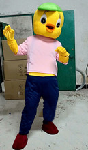 High Quality of The Yellow Duck Mascot Costume Adult Stage Performance Halloween Carnival Dress Birthday Party Suit