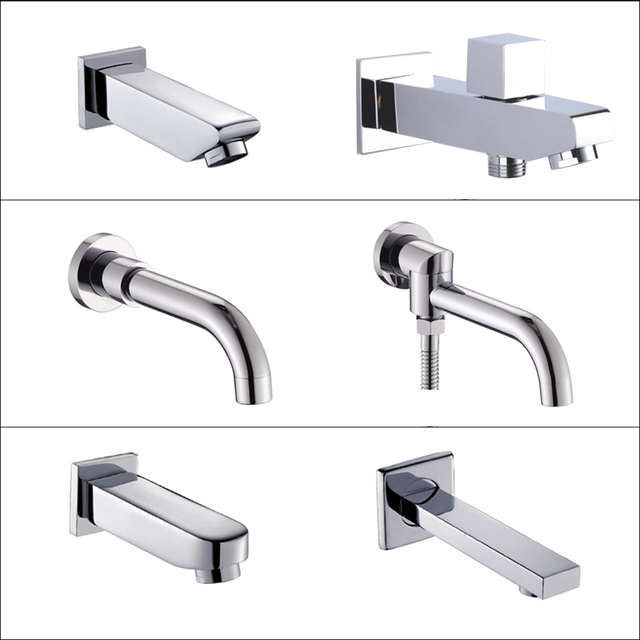 Free Shipping Best Quality Multiple Types Chrome Finish Tub Spout