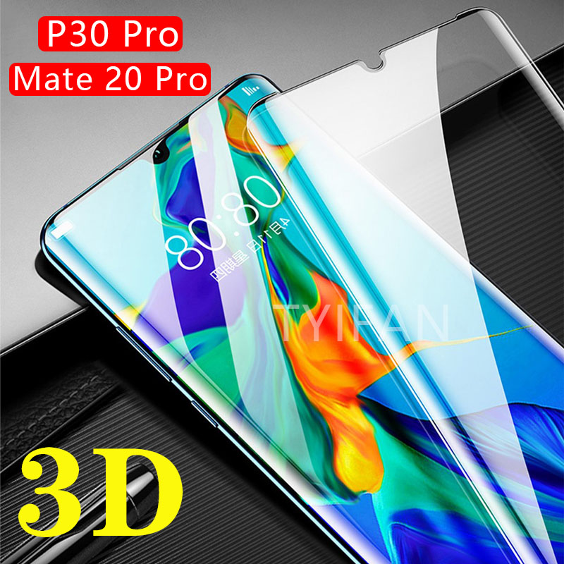 tempered glass phone case for huawei p30 pro cover Protective Shell Accessories on mate 20 pro p 30 p30pro mate20pro 3d curved