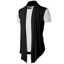New Men Hot Selling Promotion summer Jacket Coat Shawl fashion Cardigan Sleeveless Waistcoat Vest Top drop ship clothes