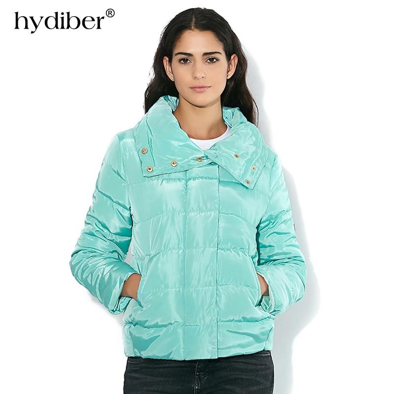 New Arrival High Collar Winter Jacket Women Wadded 2017 Spring Autumn Fashion Slim Warm Casual Ladies Basic Coat Plus Size Parka