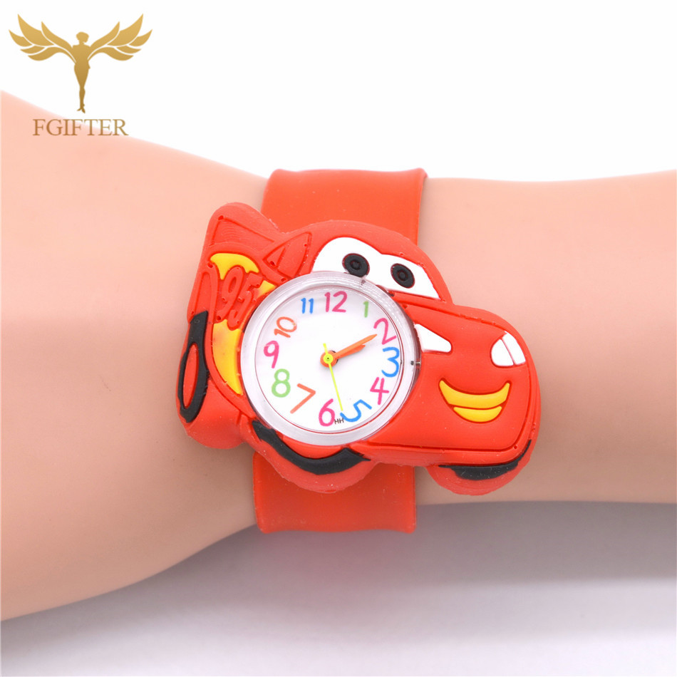 Baby Toys Gifts Children Watch Cartoon Car Clock Kids Hero Boys Watches Electronic Toddler Boy Girl 1-6 Years Old Child Watch
