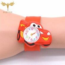 Baby Toys Gifts Children Watch Cartoon Car Clock kids Hero Boys