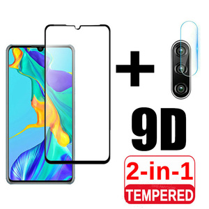 2 in 1 Protective Glass For Huawei P30 Lite P30lite Tempered Glass Camera Lens Screen Protector Hawei P 30 Light Safety Pelicula(China)