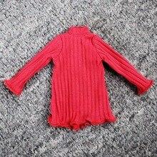 Blyth docka klänning långärmad T-shirt klänning Gules Doll klänning