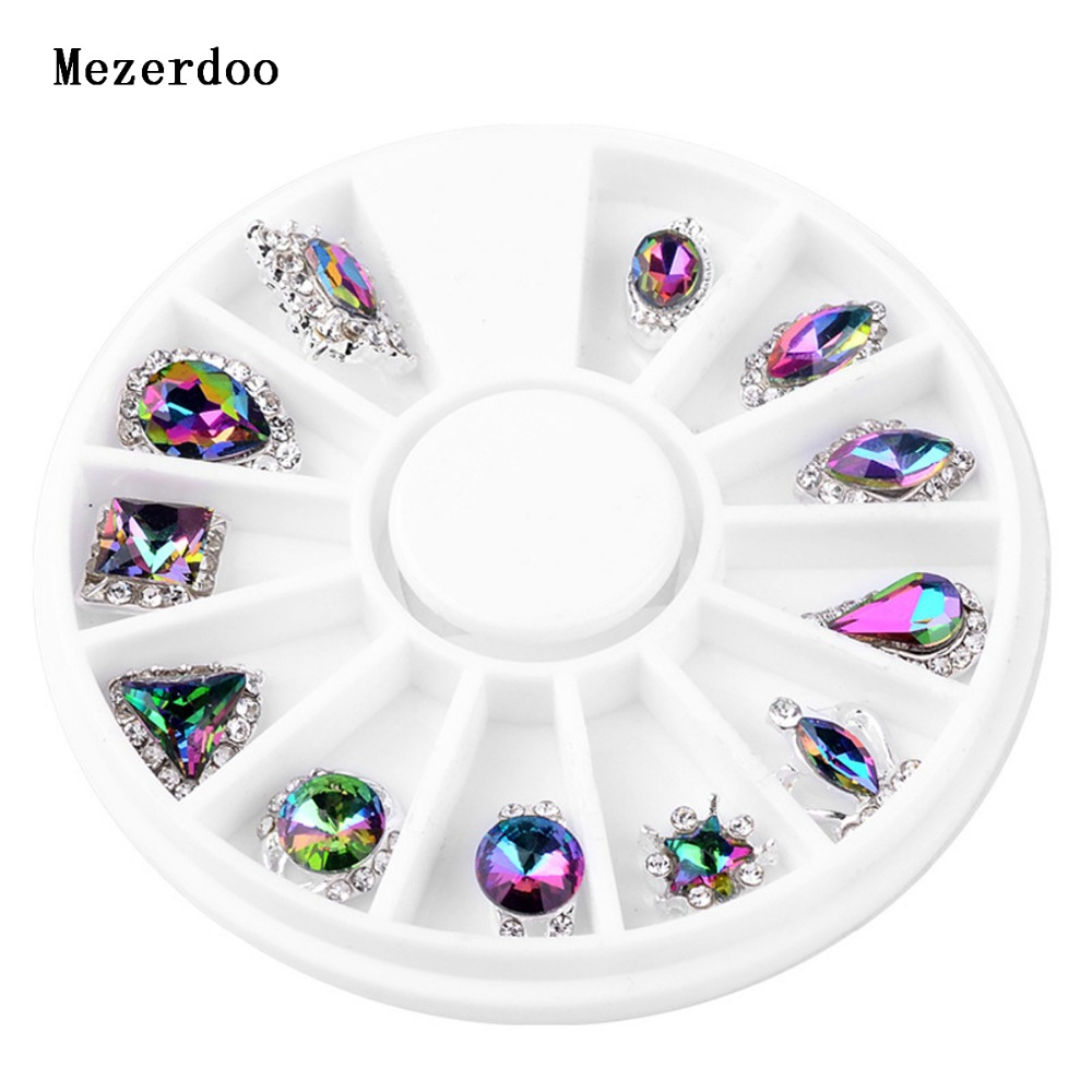 Colorful Nail Fire Drill Lava Symphony AB Rhinestone 3D Star Triangle Design Nail Art Diamond for Nails Stone in Rhinestones Decorations from Beauty Health