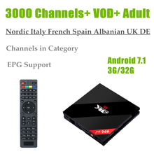 H96 Pro Plus (3G+32G) Amlogic S912 Europe IPTV Italian Nordic Canada DE UK Germany Adult 3000 Channels VOD Android 7.1 TV Box(China)