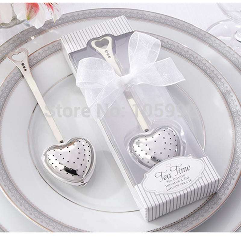 Stainless steel heart shape tea infuser tea ball novelty tea party supplies wedding gifts for guests