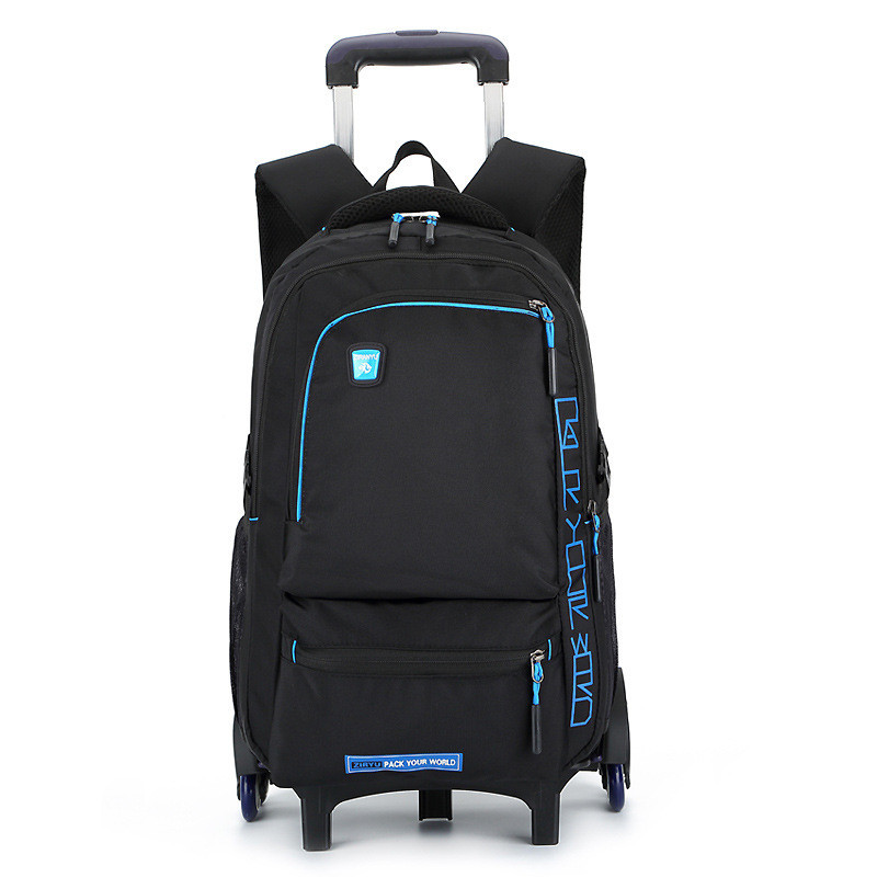 Trolley Children School Bags Mochilas Kids Backpacks With Wheel Trolley Luggage For Boys ...