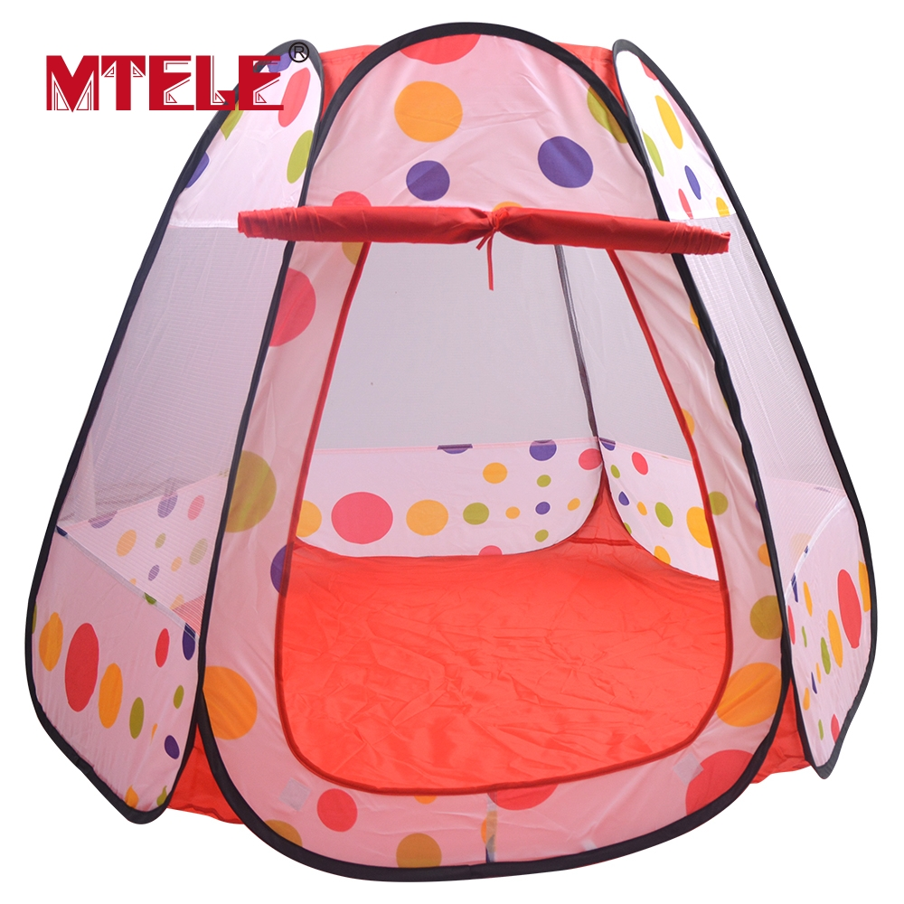 MTELE Brand Toy Tent Portable Kids Play Tents Folding Indoor Outdoor Garden Toys Tent Castle Pop Up House High Quality