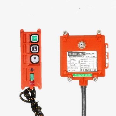Commutateur de télécommande sans fil industriel mini grue électrique treuil grue télécommande F21-2S interrupteurs de manchon de protection