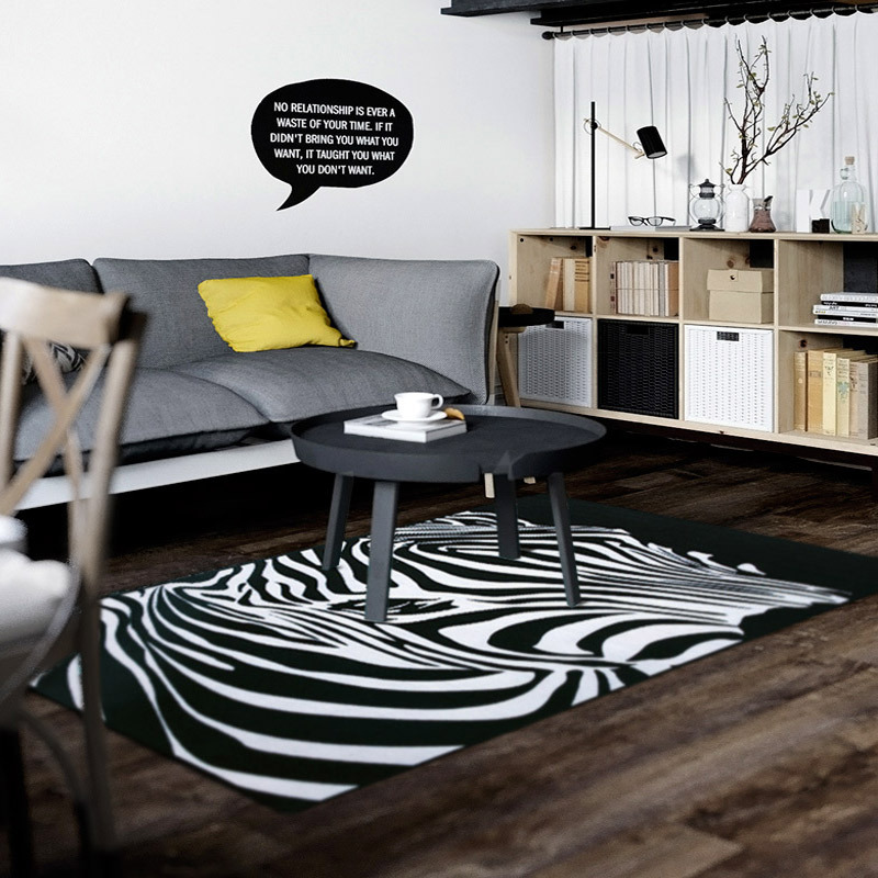 zebra teppich awesome full size of wohn und in einem raum design mit gerumiges die with zebra. Black Bedroom Furniture Sets. Home Design Ideas