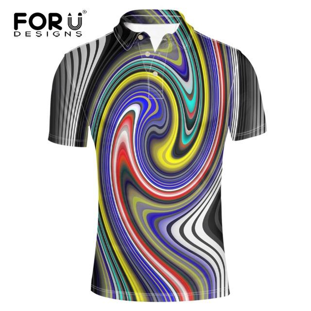 Forudesigns verano corto-manga de la camisa masculina de gran tamaño 3xl cuello alto manga corta polo adulto de manga corta de los hombres ropa