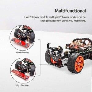 Image 2 - SunFounder ラズベリーパイ 4B/3B/3B + スマートロボットカーキット PiCar S ライン以下超音波センサーライト次モジュールロボットキット
