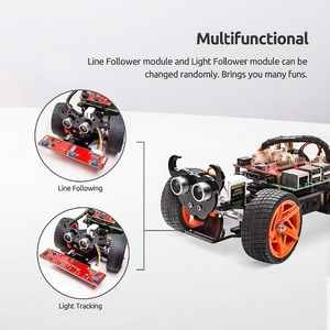 Image 2 - SunFounder Raspberry Pi 4B/3B/3B + Smart Roboter Auto Kit PiCar S Linie Folgenden Ultraschall Sensor licht Folgenden Modul Robot Kit