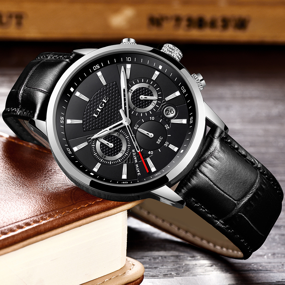 HTB1p2vLVgHqK1RjSZJnq6zNLpXaK LIGE 2020 New Watch Men Fashion Sport Quartz Clock Mens Watches Brand Luxury Leather Business Waterproof Watch Relogio Masculino