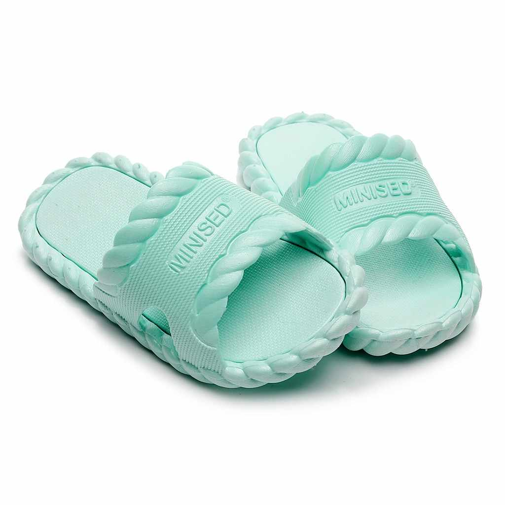 Baby Kids Girls Boys Home Slippers Candy color Floor Family Shoes Beach Sandals kids shoes summer beach slippers girls