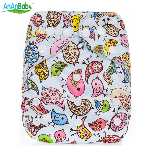 All In One Size Printed Cartoon Cloth Diapers Baby Washable Nappy Diaper Best Gift For Baby Promotion Series