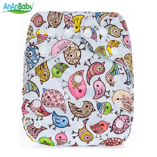 Ny design Allt i en storlek Tryckt tecknaddukblöjor Baby Tvättbar blöja Bäst present till barn