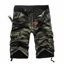 2015 шорты masculina Камуфляж Грузовые Военные Шорты Мужчины Хлопок Свободные Шорты Мужчины Армии Короткие Штаны Бермуды