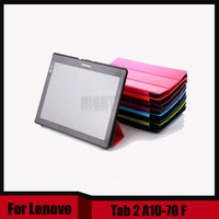 Ultra Slim 3 Folder Stand PU Leather Magnetic Cover Case For Lenovo Tab 2 A10 70