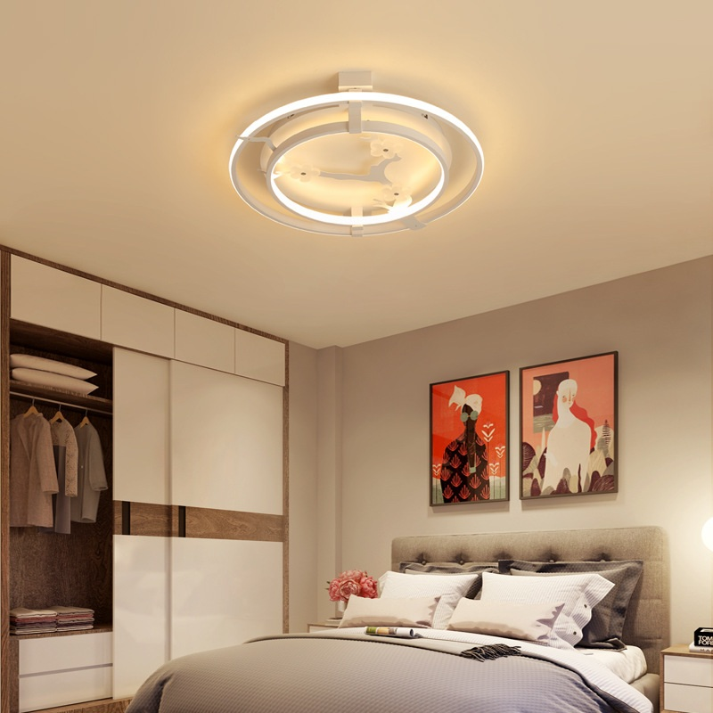 Nordic  modern led ceiling lights Acrylic creative personality disc bedroom living room study ceiling lamps Lighting fixtureNordic  modern led ceiling lights Acrylic creative personality disc bedroom living room study ceiling lamps Lighting fixture