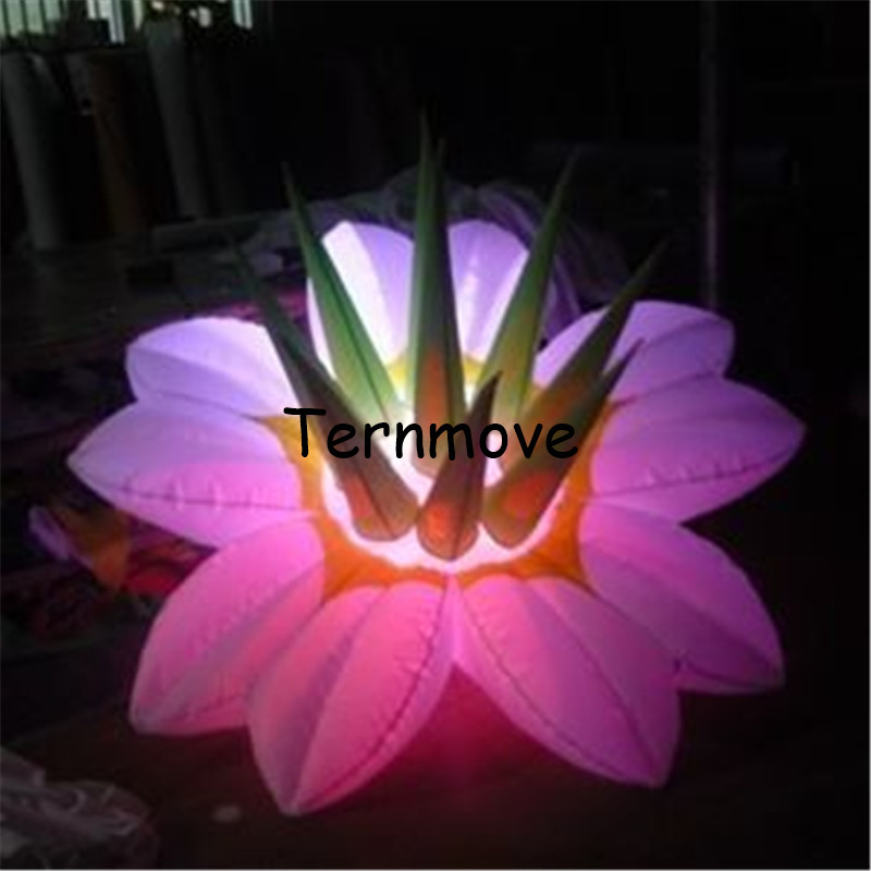 New designed led inflatable water lily,led lotus flower inflatable decoration,wedding decorate flowers