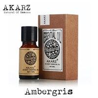 AKARZ известный бренд натуральный ароматерапия Ambergris эфирное масло парфюмерное сырье масло Ambergris