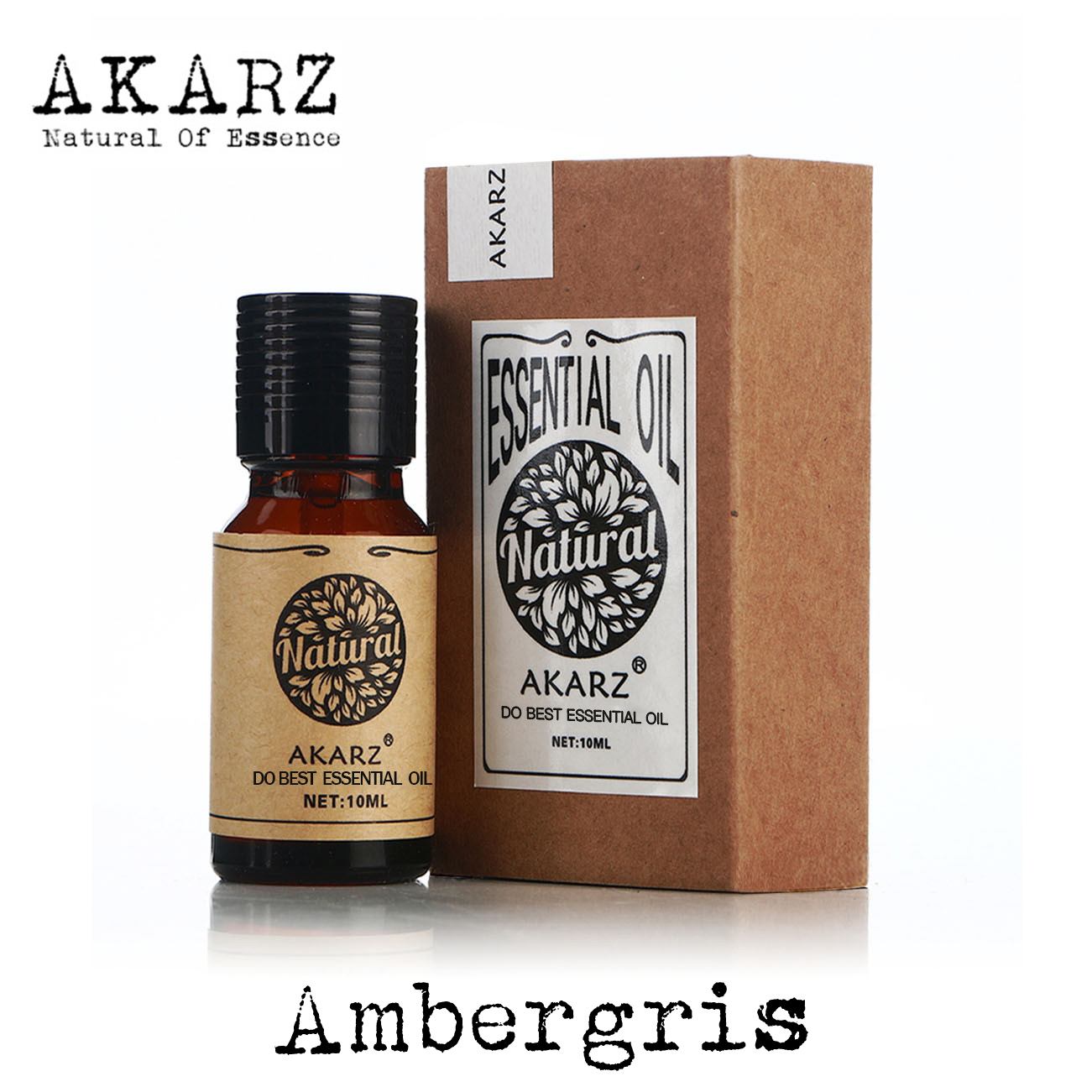 купить AKARZ Famous brand natural aromatherapy Ambergris essential oil Perfume raw materials Ambergris oil онлайн