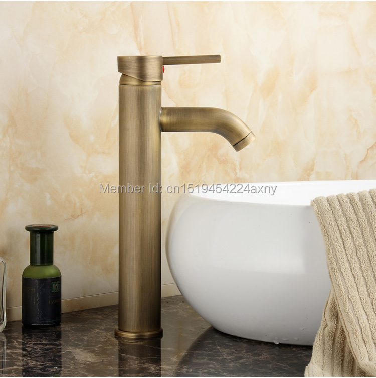 GIZERO Hot Sell Single Handle Basin Faucet Antique Finish deck mounted hot cold mixer torneira banheiro