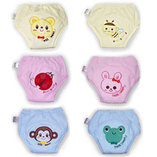 2pcs/lot 5 Layers Waterproof Baby Cloth Diapers Training Pants Boy Girl Shorts Underwear Nappies Panties #009