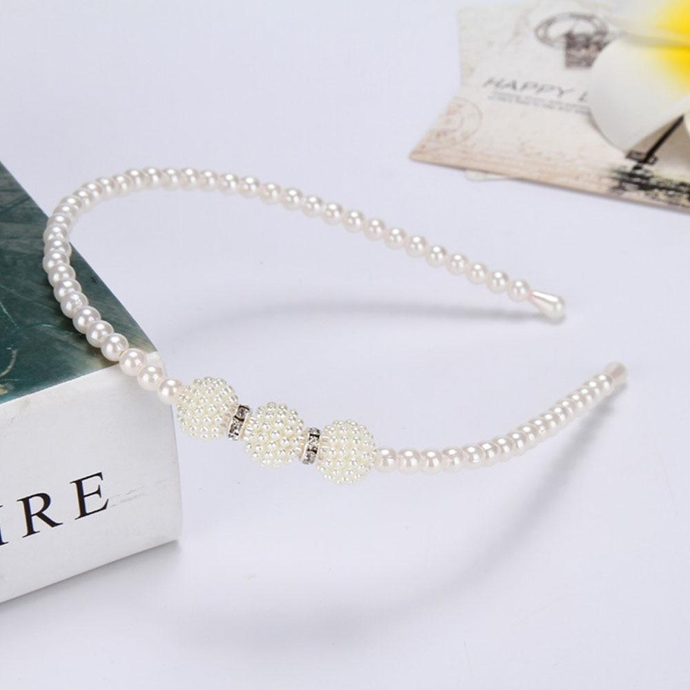 Woman Girls Pearl Hairband Crystal Jewelry Bead Princess Headband HairBand Accessories Korean Children Kids Rhinestone Bow Tiara